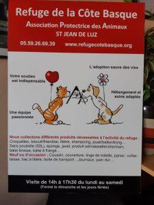 Samedi 5 octobre CARREFOUR St Jean de Luz